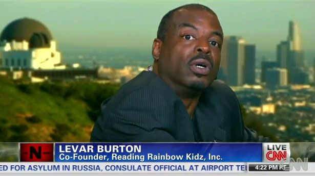 LeVar Burton screenshot - He's not exactly known for bad behavior, but even the former host of the children's show Reading Rainbow fears he will be mistreated by police because of his skin color.