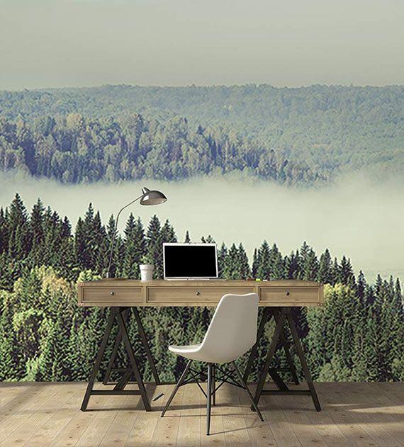 Papier peint panoramique nouvelle collection 2017 : Forêt canadienne