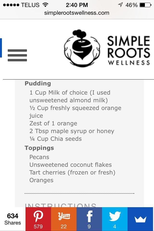"Orange ""creamsicle"" chia seed pudding"