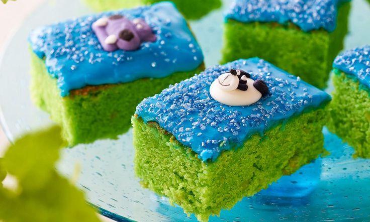 Banditkage - grøn mazarinkage: En lækker kage til små og store banditter. - Se de lækre opskrifter fra Dr. Oetker.