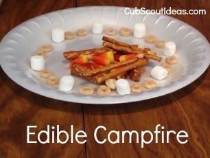 Learn Campfire Safety with a Craft: Edible Campfire | Cub Scout Ideas