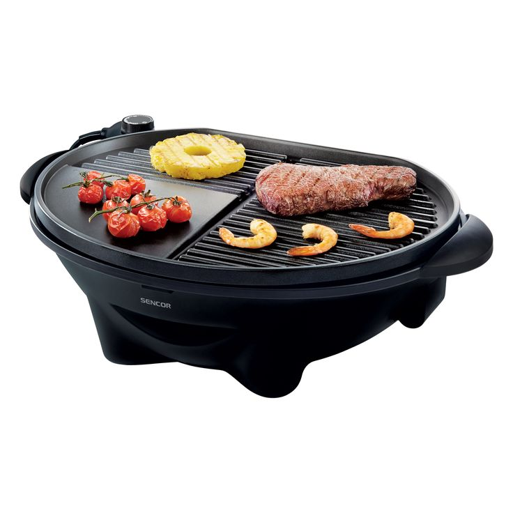 Electric Grill SBG 700xx - Removable grill plate with a non-stick coating - Integrated accessory tray for grilling - Stable construction