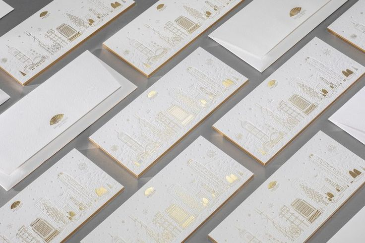 Mandarin Oriental Greeting Card The Printing Process of Detailed Illustrations using Foil Stamping 4