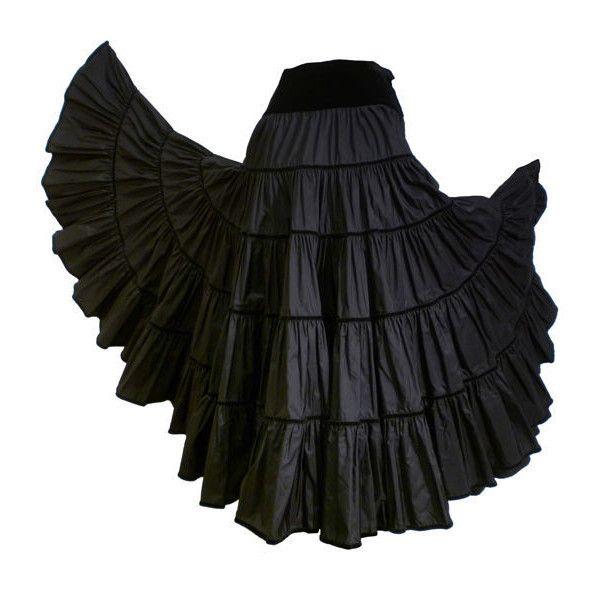 Yves Saint Laurent Black Silk Peasant Skirt w/ Velvet Trim ❤ liked on Polyvore featuring skirts, bottoms, gonne, long skirts, long silk skirt, silk maxi skirt, floor length skirt and yves saint laurent