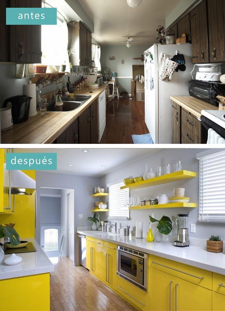Antes y despu s los asaltacasas cocina pinterest for Cocinas antes y despues
