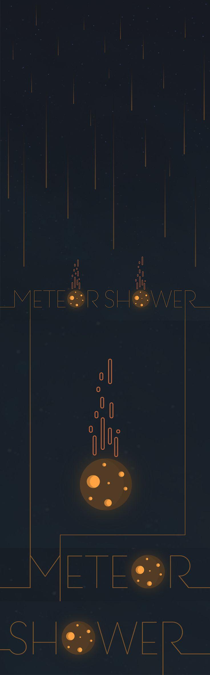 Meteor Shower Illustration