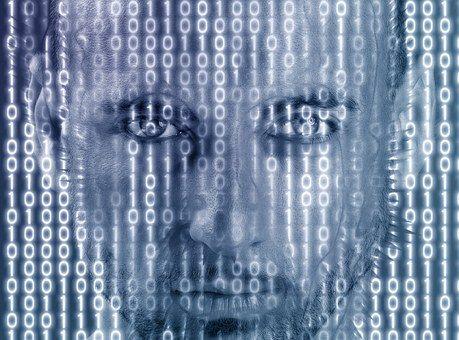 Matrix, Man, Portrait, Face, Model