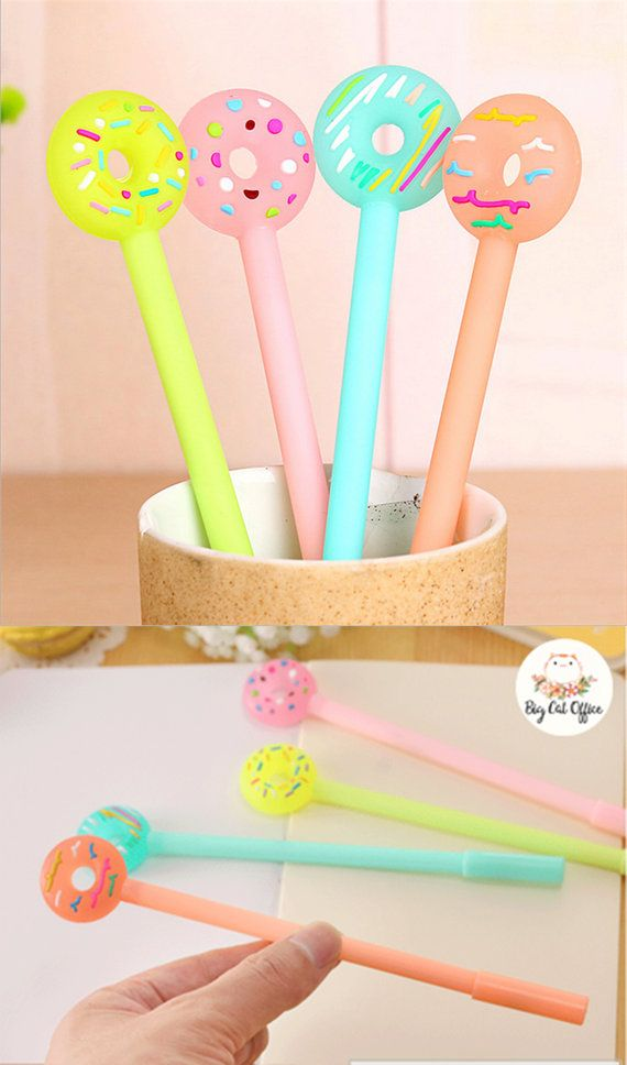 Neon Donut Gel Pens for kids, Cute pens set, Cute Stationery for kids, Planner Pens Kids School Supplies, Planner Supplies Kawaii Stationery Ballpoint Pens Kawaii Pens Back to school gift Pen Set    ❤ Hi. Welcome to BigCatOfficeStore.   ------------------------------------ ❤ ORDER DETAILS  Quantity; 1 pen. Pen Type: Gel Pen Material: Plastic Size: 18cm Ink color: black ink Writing point: 0.5 mm  *** Supprised color pick ***   ❤ Every time you purchase any item in our shop, you will always be…