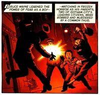 Joe Chill murders Thomas and Martha Wayne