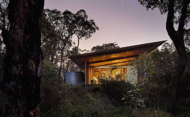 zincalume steel, worm-farm blackwater treatment system, Bush House, rammed earth walls, thermal mass, passive solar, solar hot water, solar power, solar powered architecture, jarrah wood, Archterra Architects, Bush House by Archterra Architects