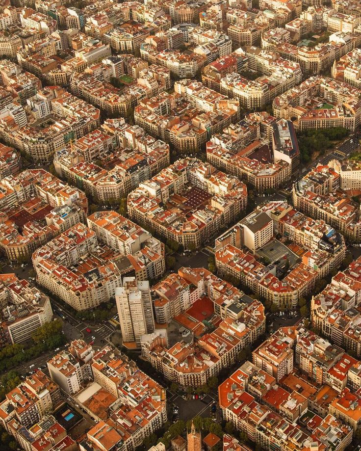 Aerial shot of Barcelona España by Tim Orr (@355heli) on Instagram More Cityscapes here.