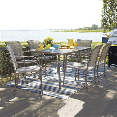 Driscol 7 Piece Outdoor Dining Set Sturdy Heavy Duty