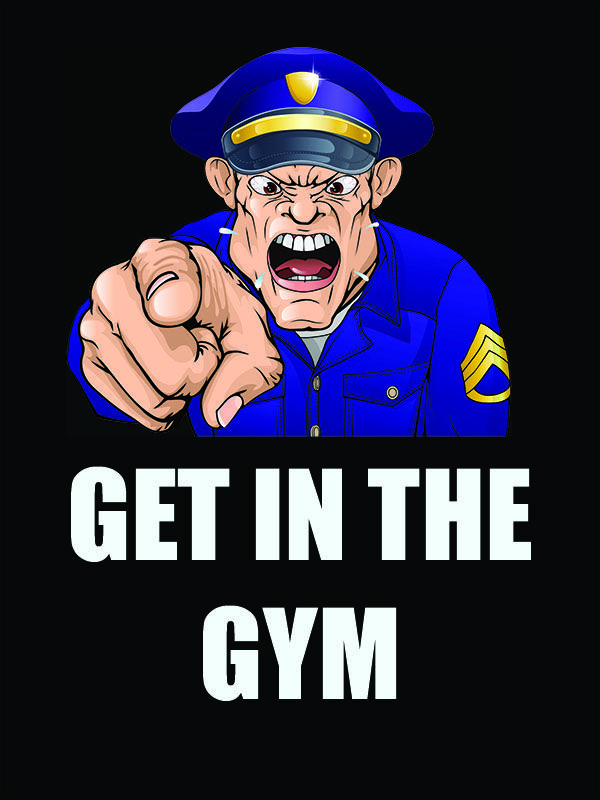 Get In The Gym Law Enforcement Police Officer poster