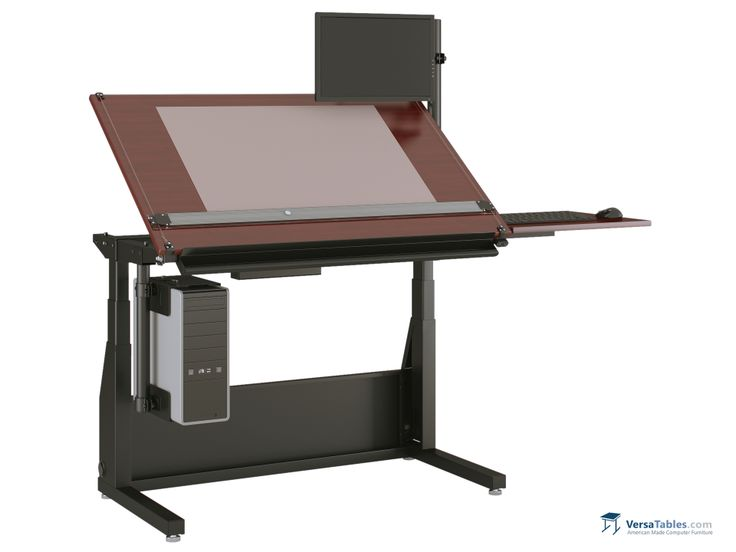 Edison Electric Lift Drafting Table ELE DT Series By Versa