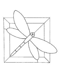 simple stained glass bird pattern   Dragonfly Stained Glass Patterns