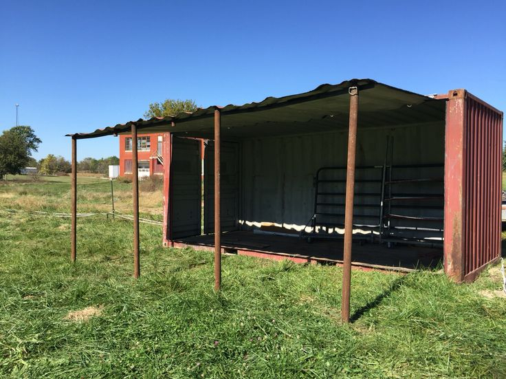 We Created A Horse Barn From A Shipping Container We Cut
