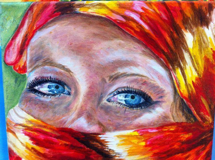 Madelon als Fatima.  Olie op canvas