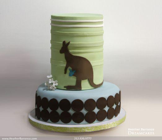 Kangaroo Baby Shower Cake