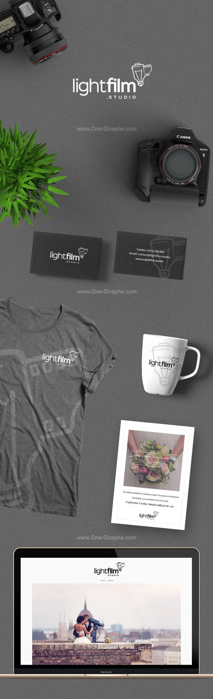 Brand Identity for LightFilm Studio http://www.one-giraphe.com/prev.php?c=189 Project in collaboration with Vasile Petrice #logo #logodesign #photography #behance #photographer #brandidentity #designer #logodesigns #etsy #dribbble