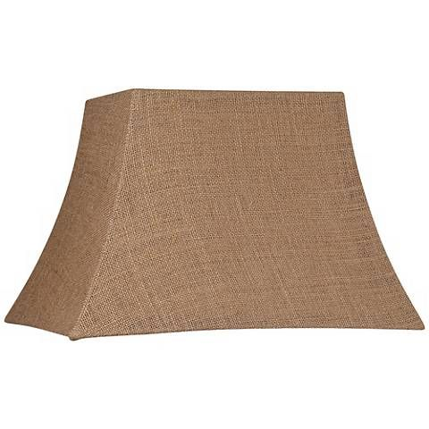 Natural Burlap Rectangle Lamp Shade 7/10x12/16x11 (Spider) - #U0932 | Lamps Plus
