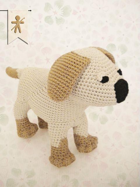 Crocheted by AmgurumisFanClub ♥ Stuff The Body patterns!!! Pattern: https://www.etsy.com/es/listing/188673367/labrador-puppy-amigurumi-pattern-dog?ref=shop_home_active_5
