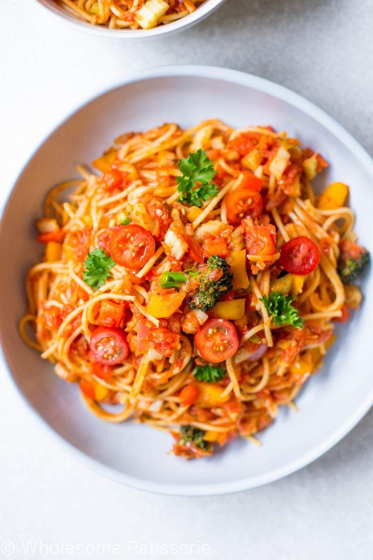 Gluten Free Vegetable Spaghetti Bowl | Wholesome Patisserie