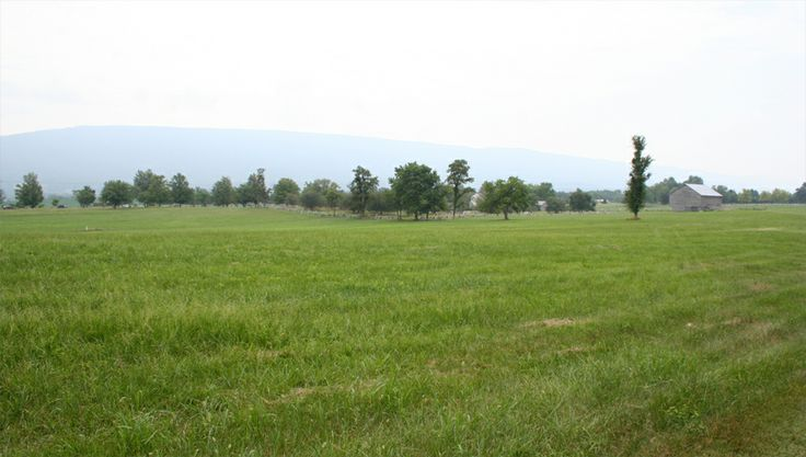 Field of Lost Shoes and the Bushong Farm — at New Market Battlefield State Historical Park.