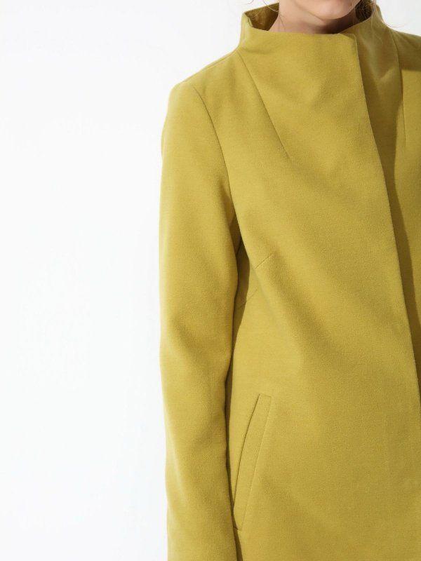 Damski płaszcz Top Secret z kolekcji wiosna 2017 light green coat