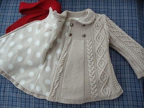 japanese knitting girl coat jacket cables