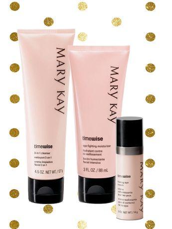 Set Navidad - Limpiadora 3 en 1 + Hidratante Anti-Edad TimeWise® + Crema Reafirmante para Ojos (Piel Mixta-Grasa) | Mary Kay
