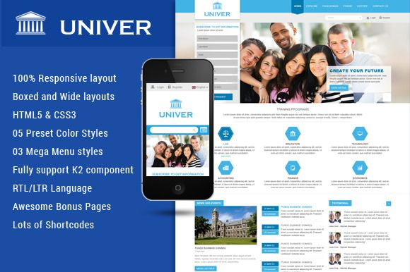 Check out SJ Univer -Nice Educational Template by YouTech on Creative Market