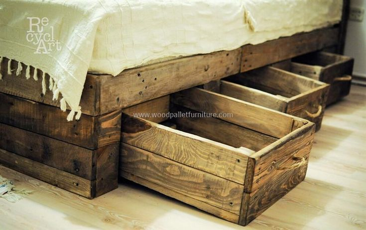 Best 25 Wooden Pallet Beds Ideas On Pinterest Pallet
