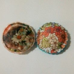 Making Fabric Cabochons Using Transfer Paper Trial - 101 Nifties