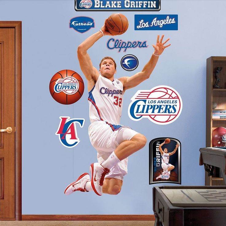 Fathead Los Angeles Clippers Blake Griffin Wall Decals, Multicolor