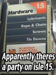 Let's shop!  So sexy!: Aisle 15, Giggle, Party'S, Parties, 50 Shades, Funny Stuff, Humor, Home Depot