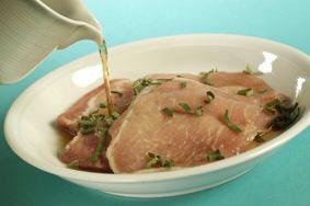 Receta de Filetes de cerdo con manzanas caramelizadas