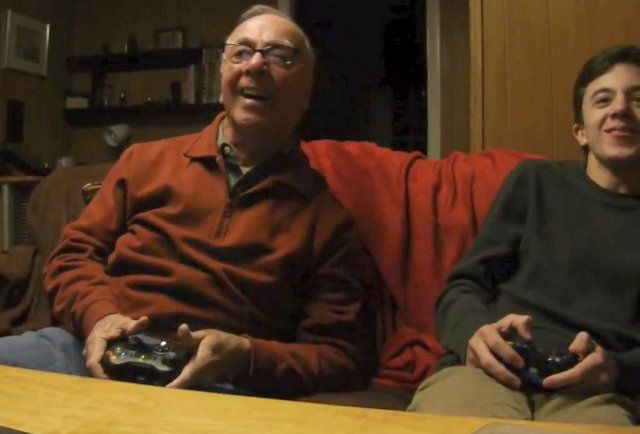 Grandpa Playing Video Games