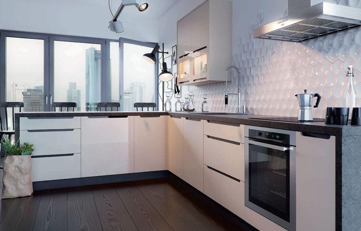 GOYA modern konyhabútor   Aki egyszerű és elegáns konyhabútort keres, annak a GOYA konyhabútor szett kitűnő választás!   Ebben a 240 centiméteres hosszúságú összeállításban minden benne van, ami egy konyhában elengedhetetlen, sütő, mosogató, szagelszívó számára kialakított hely, alsó és felső tároló elemek.   Modern minimalista stílusú megjelenése miatt sokféle környezetbe jól illeszkedik.