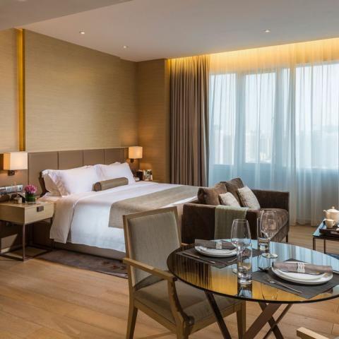 Fraser Suites, Guangzhou- pretty headboard