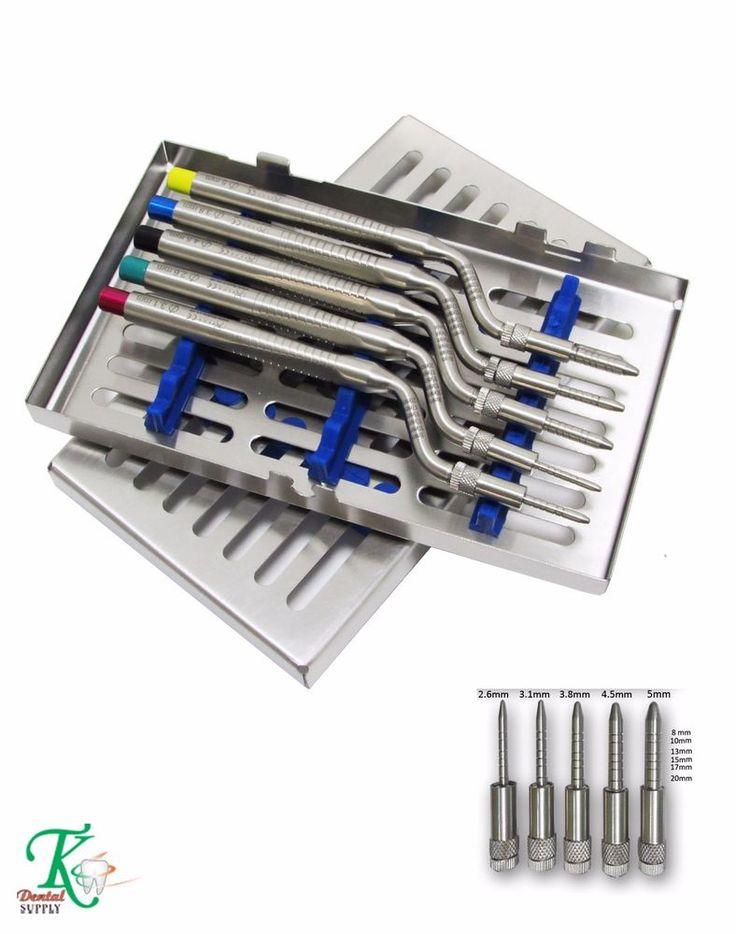 Bone Grafting Tools Dental Sinus Osteotomes Offset Pointer-Tip Free Cassette New #tkplus