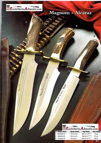Magnum and Alcaraz Bowie Knives.