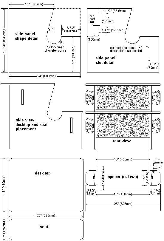 kids plywood desk plan