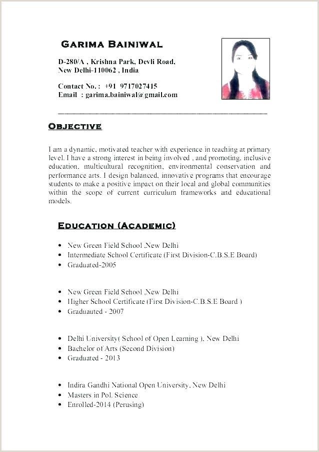 Cv Format For Fresher Teachers Doc Teaching Resume Teaching Resume Examples Words For Teacher