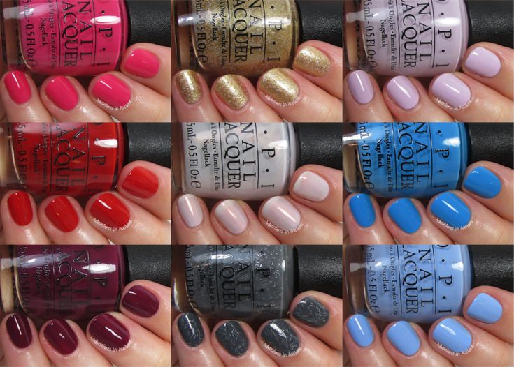 OPI Through the Looking Glass Collection Collage