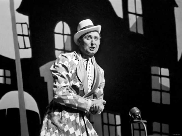Max Miller, a popular variety hall comedian, performing on stage January 1938.