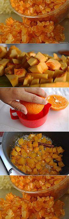 Сушим на зиму витамины - цукаты из тыквы с апельсином