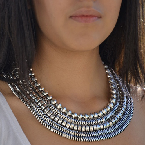 how to make an egyptian collar necklace
