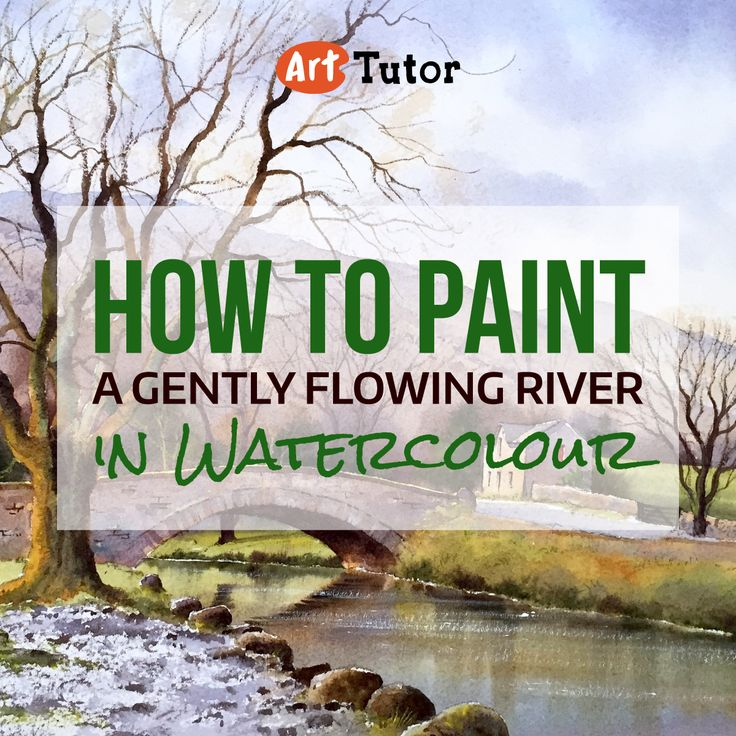 Learn how to paint a gently flowing river with artist Geoff Kersey in this inspirational watercolour painting tutorial.