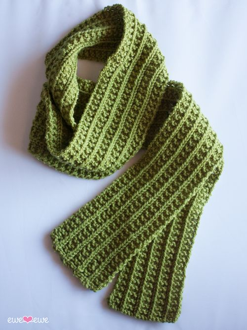 Wainscot Scarf Free Knitting Pattern Easy Scarf
