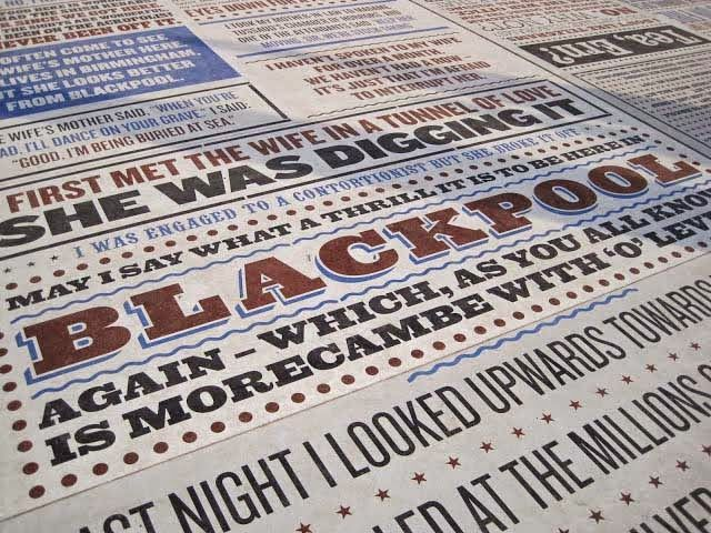 Blackpool's Comedy Carpet. From Buckets & Spades - Men's Fashion, Design and Lifestyle Blog. #Blackpool #travel